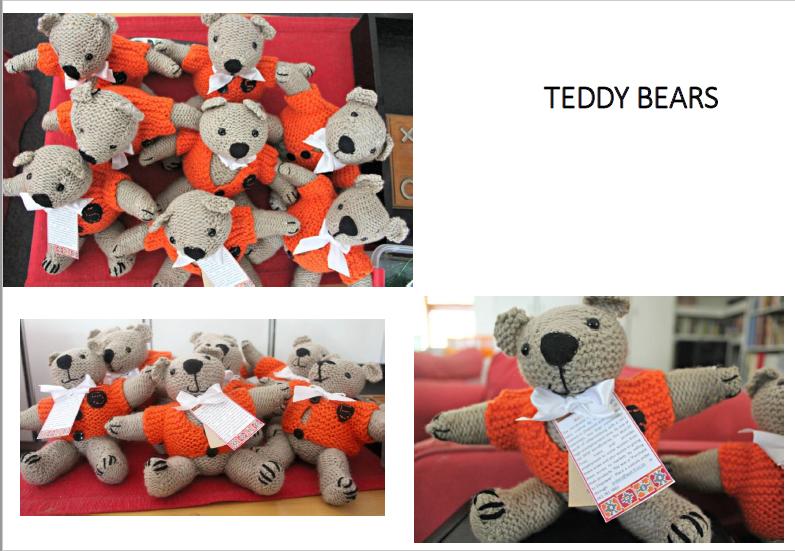 Teddy bears (crocheted)