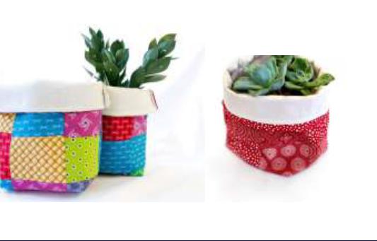 Fabric pot cover / basket