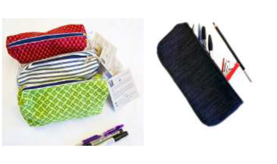 Pencil / cosmetic bag with zip