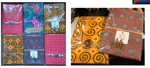 Assorted African Fabric notebooks