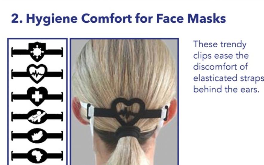 Hygiene comfort for face masks
